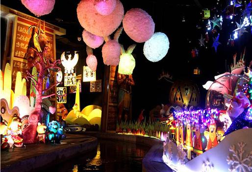 奇幻海洋馆里有潜水鱼,太阳神车的缩小版,disco的缩小版,模拟过山车