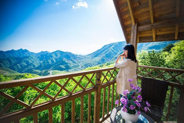 松林中的小木屋 躺在云端看风景