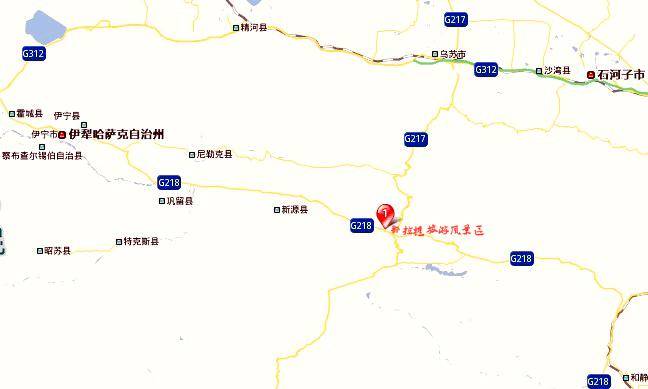 赛里木湖旅游地图